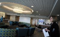 Andrea Winter, director of women's services at Park Nicollet, showed off the organization's new, $4.9-million Women's Center in St. Louis Park, Minnesota.