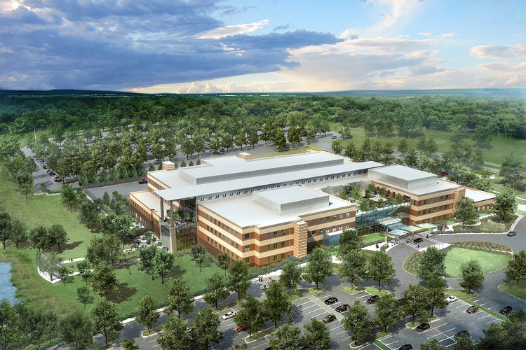 Lend lease tops out va healthcare center in kernersville for New home construction kernersville nc