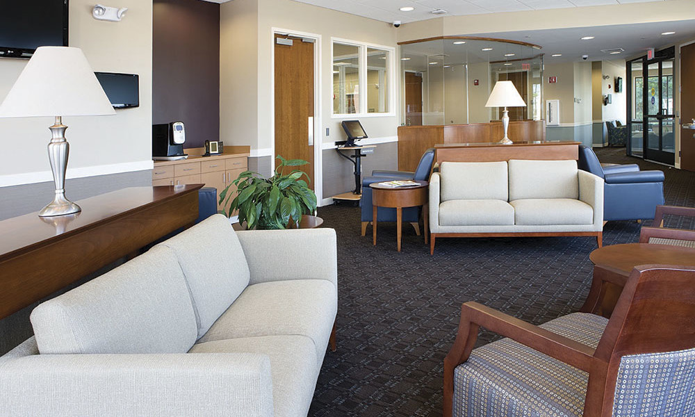 The Interior Finishes At Readymed Walk In Medical Care Clinics Central Machusetts Were Chosen To Give E A Living Room Quality