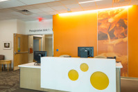 GOJO outpatient surgery center check-in.