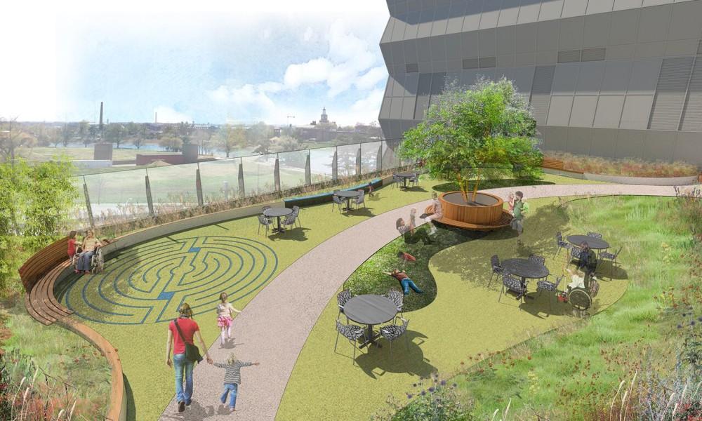 Gifts Enable Bunny Mellon Healing Garden Construction To Begin | Medical  Construction And Design