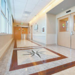 At this new hospital in California, fire sprinklers are flush and concealed. There are myriad ways to keep up with today's fire safety codes, while meeting aesthetic desires of healthcare clients.