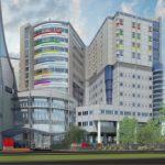 Rendering of the new construction at Monroe Carell Jr. Children's Hospital at Vanderbilt, Nashville, Tennessee.