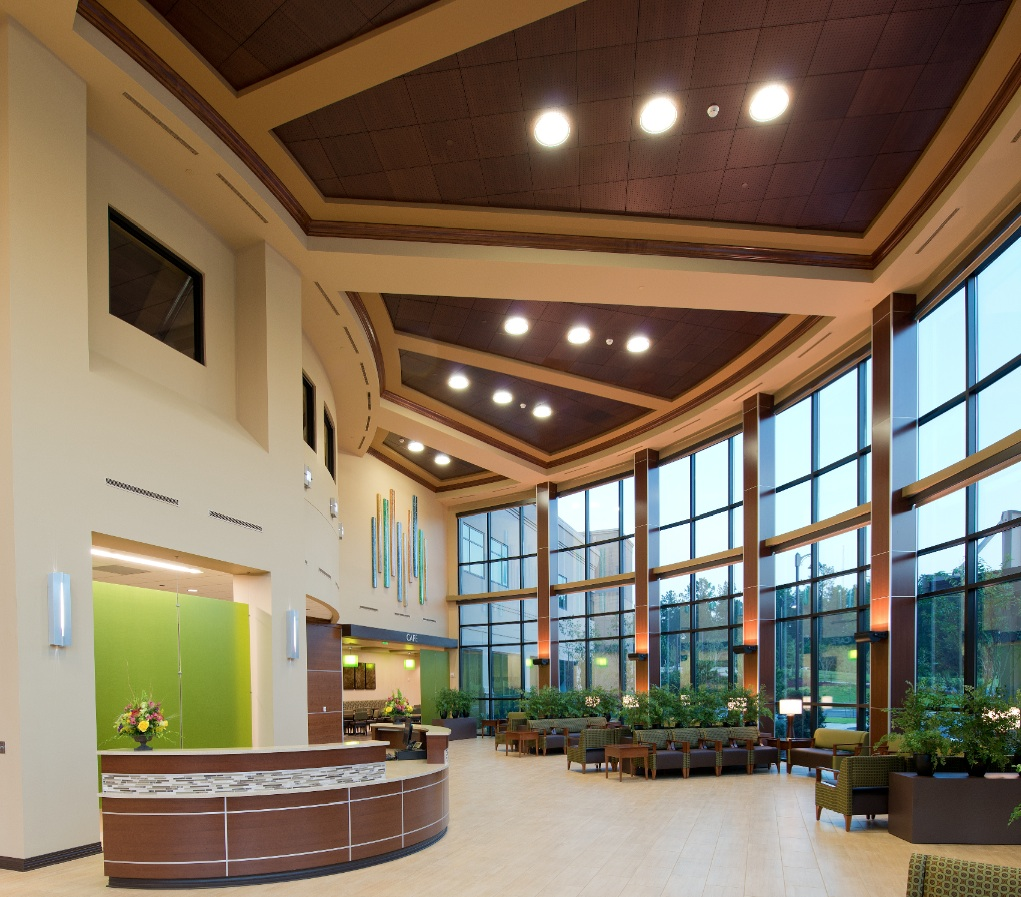 Forrest health orthopedic institute completed with cutting for Interior design information